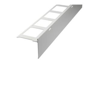 Balkonabdeckprofil Aluminium, Auflageschenkel 80mm, Länge 300cm, 15mm hoch,grau,