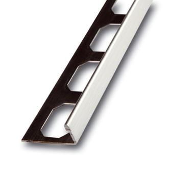 Edelstahl Fliesenschiene, Oberfläche Feinschliff,  250cm lang, 6mm hoch