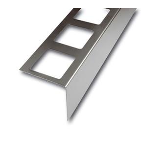 Balkonabdeckprofil Edelstahl , Auflageschenkel 80mm, Länge 300cm, 75mm hoch,