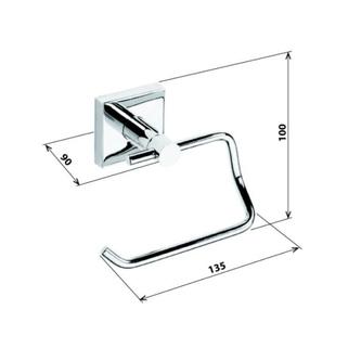 X-SQUARE Toilettenpapierhalter ohne Deckel, 135x100x90 mm, Chrom
