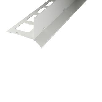 Kiesbettprofil Alu, Oberfläche Pulverbeschichtung, Auflageschenkel 100mm, Länge 300cm,Innenhöhe 23/40/70mm, Außenhöhe 48/65/95mm