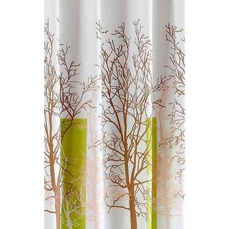 Duschvorhang 180x200cm, PE, weiß/grün, Baumdekor
