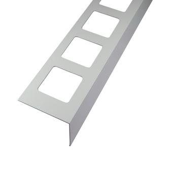 Balkonabdeckprofil Aluminium, Oberfläche Pulverbeschichtung, Auflageschenkel 80mm, Länge 300cm,  55/75/95 mm hoch,grau