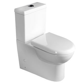 TALIN WC Kombi-WC, Spülkasten inkl. PP WC-Sitz, Abgang senktrecht/waagerecht