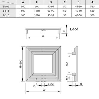 MONOPOLI Heizkörper 600x600mm, 312 W, silber strukturell