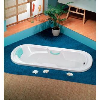 LINDA Ovale Badewanne mit Füßen 190x89x43cm, weiß