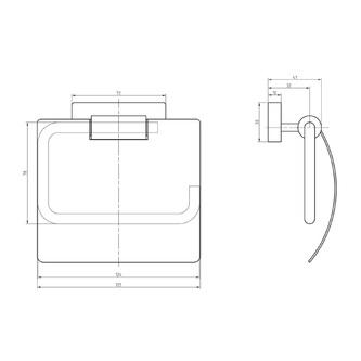 OLYMP Toilettenpapierhalter mit Deckel, Chrom