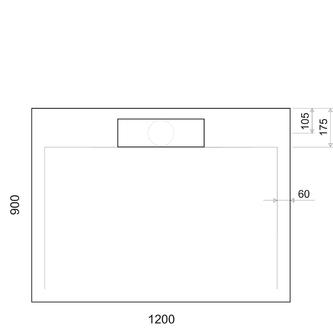 IRENA Duschwanne 120x90x3,5cm weiß