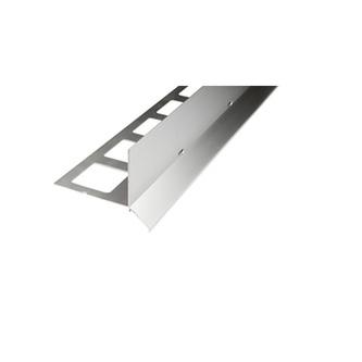 Kiesbettprofil Alu, silber elox., Auflageschenkel 100mm, Länge 300cm,Höhe 70mm,