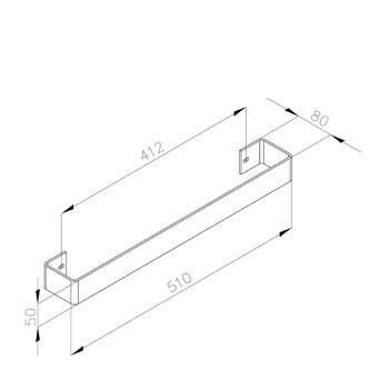 MAGNIFICA Handtuchhalter 456x74mm, gebürsteter Edelstahl