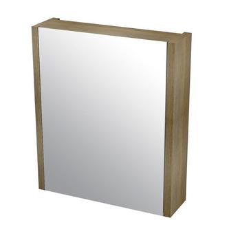 LARITA Spiegelschrank 56x70x1,7cm, Eiche, Eiche graphite