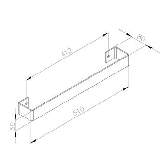 COLONNA Handtuchhalter 450x74mm, Chrome