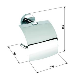 X-ROUND Toilettenpapierhalter mit Deckel, Chrom