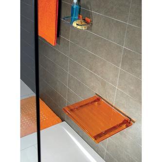 LEO Duschsitz 40x31cm, orange