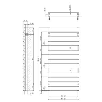 SANTINA Heizkörper 1120x550mm Anthrazit metall