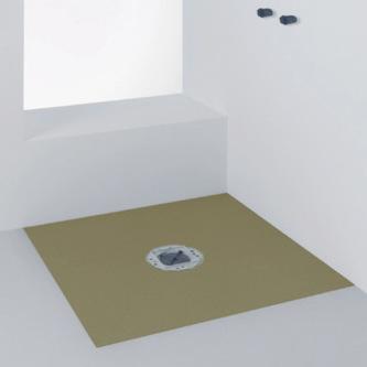 Duschwanne Duschelement 150x150x5cm befliesbar, Ablauf waagerecht
