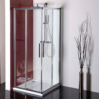 LUCIS LINE Duschabtrennung Quadrat 900x900mm, Klarglas