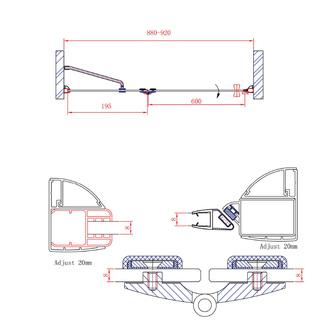 LEGRO Duschtür für Nische 900mm, Klarglas