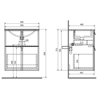 MITRA Unterschrank 60,5x70x46 cm, weiß