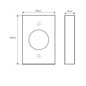 Hygienebeutel-Behälter HygBag, gebürsteter Edelstahl