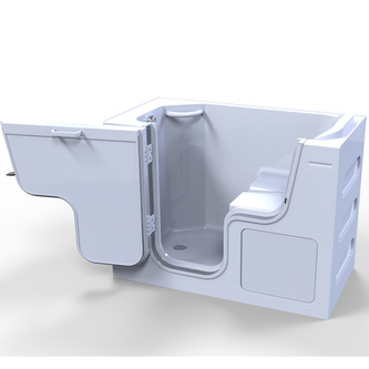 SERENITY Sitzwanne mit Tür/Seniorenwanne 130x66cm  Ausführung Links