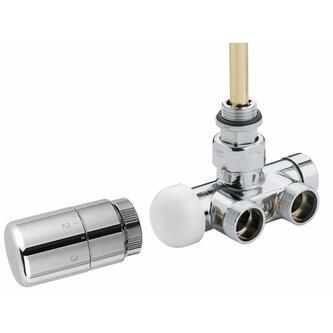 MONO ONE Thermostat-Anschlusset, gebürsteter Edelstahl