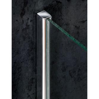 VITRA LINE Duschabtrennung Quadrat mit Eckeinstieg 800x800mm, Klarglas