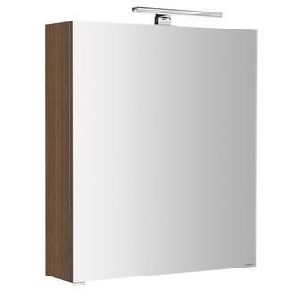 RIWA Spiegelschrank mit LED Bel., 60x70x17cm, berührungslos.Lichtsch.,Nuss Bruno