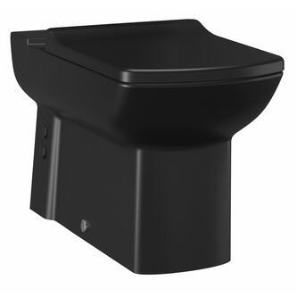LARA 3 Stand-WC Kombination, schwarz matt