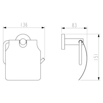 X-ROUND Toilettenpapierhalter, mit Deckel, schwarz