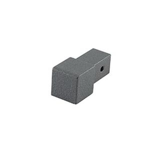 Quadro Aluminium Eckstück,  grau metallic, 10 mm hoch