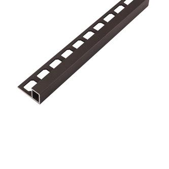Quadro Aluminium Fliesenschiene, strukturbeschichtet, Oberfläche umbra, 250cm lang, 10 und 11mm hoch
