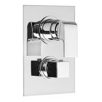 UNA Thermostat-Unterputzduscharmatur, 5 Wege, Chrom