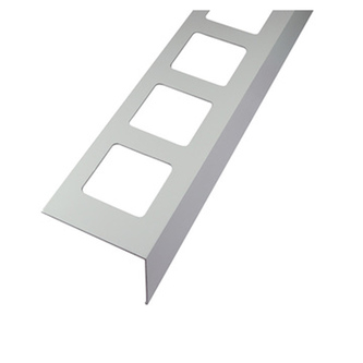 Balkonabdeckprofil Aluminium, pulverbeschichtet, Länge 300cm, 75mm hoch,grau