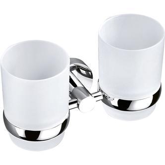 CIRCLE Doppelglashalter, Chrom