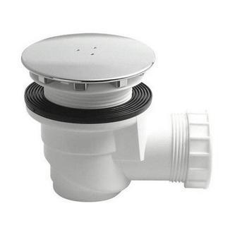 Duschwannensiphon für Keramik-Duschwannen, 60mm, Chrom