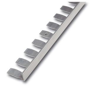 Radialabschlussprofil, Kurvenprofil, Alu, Oberfläche natur,250 cm, Höhe 6mm