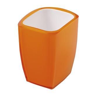 NEON Glas zum Stellen, stehend, orange