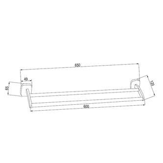 RUMBA Handtuchhalter 2-Fach, 600mm, Chrom
