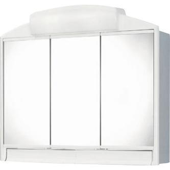 RANO Spiegelschrank 59x51x16cm, 2x25W, weiß Kunststoff