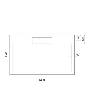 IRENA Duschwanne 130x80x3,5cm, weiß