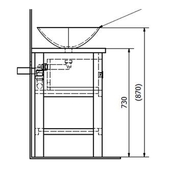 BRAND Unterschrank 100x73x50cm, Fichte gebeizt
