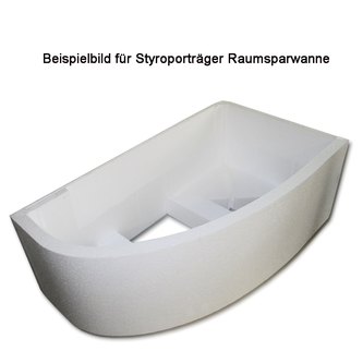 Styroporträger zu Badewanne Minou Links 160x70cm