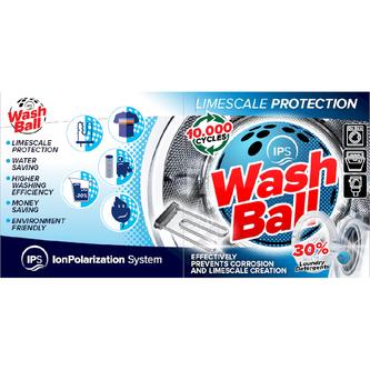 WASHBALL IPS Ball für Waschmaschinen, Geschirrspüler, Spülkästen