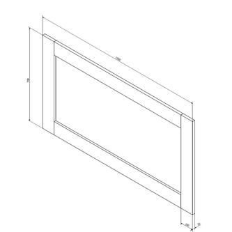 BRAND Spiegel 130x70x2cm, altweiß