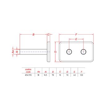Deckenrosette zum ONE-Anschlussset, gebürsteter Edelstahl