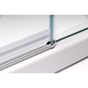 VITRA LINE Duschabtrennung 3-teilig 900x800mm, rechts, Klarglas