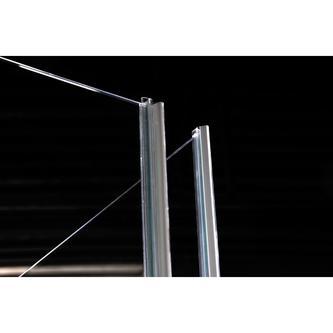 VITRA LINE Duschabtrennung 3-teilig 900x800mm, links, Klarglas