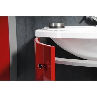 AILA Unterschrank 110x39cm, rot/schwarz, Schubladen rechts