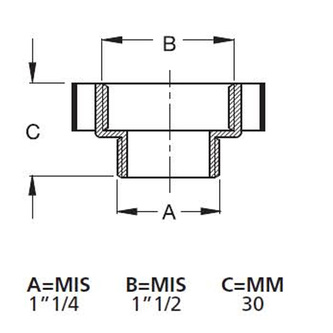Reduktion 1'1/4 M - 1'1/2 F, weiß
